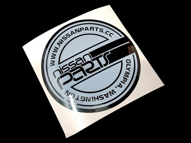 "NISSANPARTS.CC 4"" ROUND BLACK ICE DECAL - Custom (BKICE)"