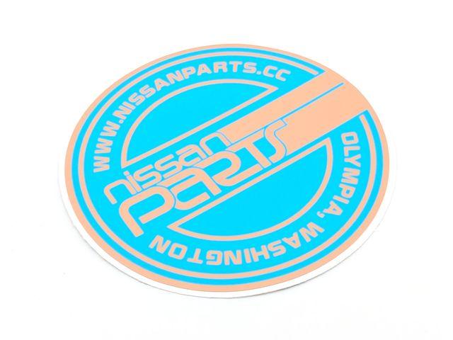 "NISSANPARTS 4"" BLUE APRICOT - Custom (NPROUNDBA)"