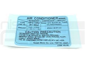 AC Label (S14 240SX) - Nissan (27090-40U00)