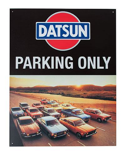 DATSUN PARKING ONLY SIGN - Nissan (NIS17003300)