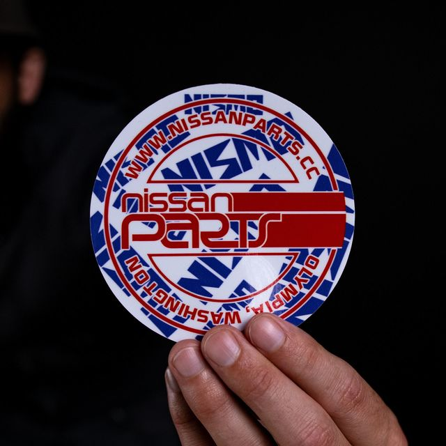 """4"""" NISSANPARTS ROUND DECAL (LIMITED EDITION) - Custom (210107)"""