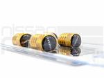 NISMO VALVE STEM CAP SET - GOLD - Nissan (M-99927-VLCGD)