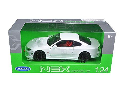 NISSAN S15 WELLY NEX 1:24 DIECAST MODEL CAR WHITE - Nissan (51554)