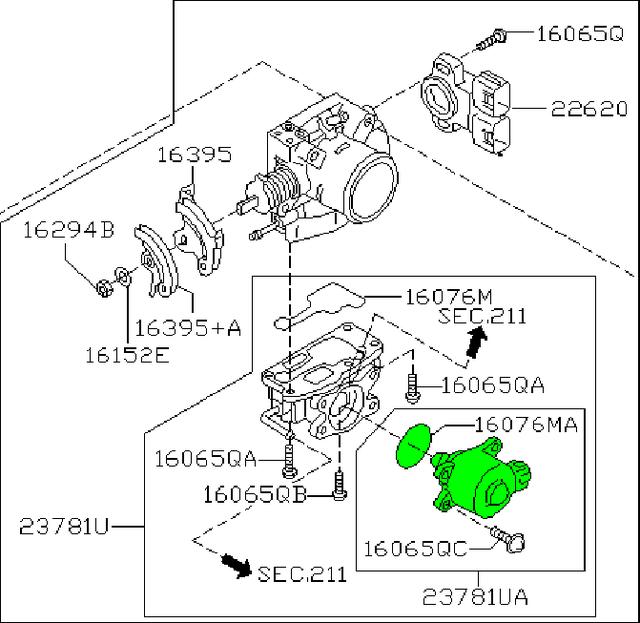 2001 Infiniti Qx4 Idle Speed Control 23781 4w002