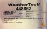 WEATHERTECH - Toyota (448662-BHTJ)