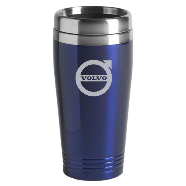 Volvo logo Mug Stainless Steel 16oz Blue - Volvo (200-BLUE)