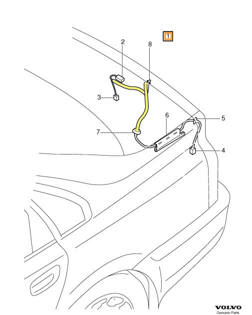 Genuine Volvo Wiring Harness 30773915