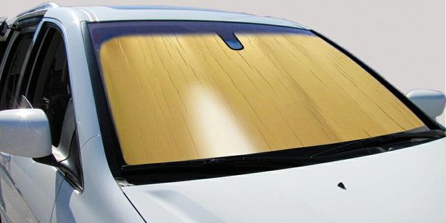 Classic Sun Shade Gold (roll-up) - Intro-Tech (gold-sunshade)