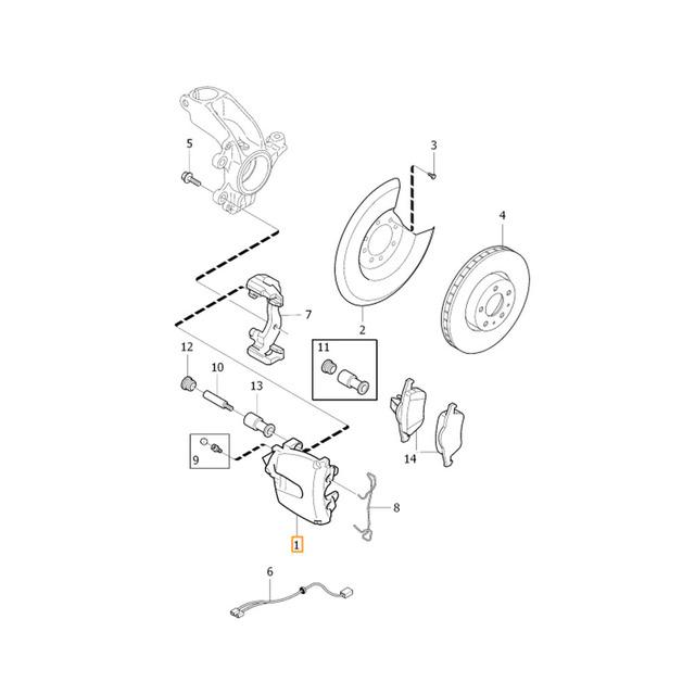 C30 Front Brake Parts Misc - Volvo (c30-brakes)