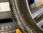 """20"""" 5-Double Spoke Tech Black Diamond Cut  SET OF WHEELS AND TIRES USED - Volvo (31423853TO)"""