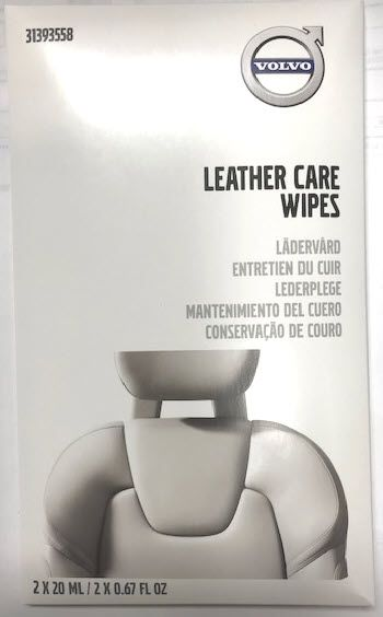 Leather Care Wipes - Volvo (31393558)