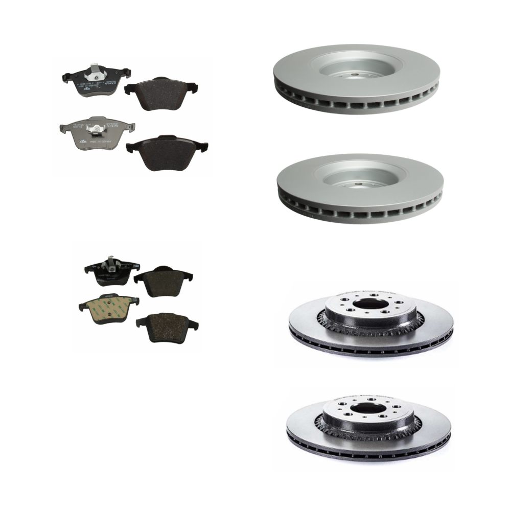 Genuine Volvo Brake Kit Front & Rear Pads & Rotors XC90 2003-05 VIN 0-144726 - Volvo (xc90brakekit16)