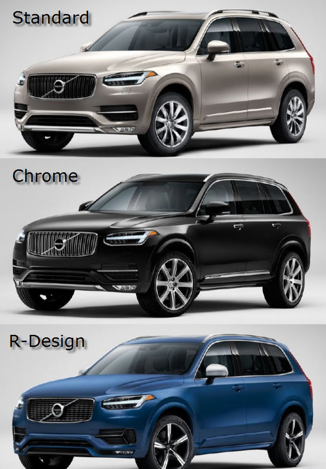Volvo XC90 Grille Options 2016-Up - Volvo (volvo-grille-upgrade-xc90)