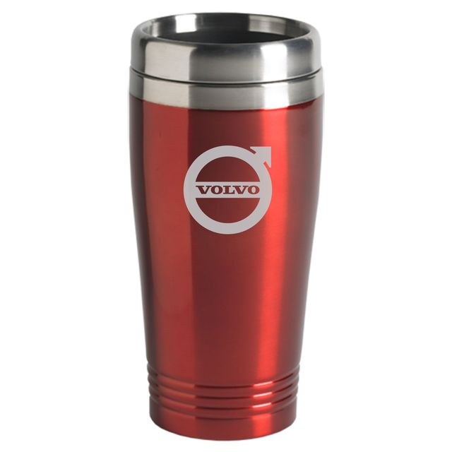 Volvo logo Mug Stainless Steel 16oz Red - Volvo (200-RED)