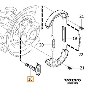 Volvo XC90 Park Brake Kit - Volvo (volvo-xc90-park-kit)