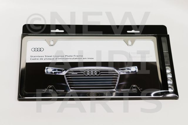 Audi Plate Frame >> Slimline License Plate Frame With Audi Rings