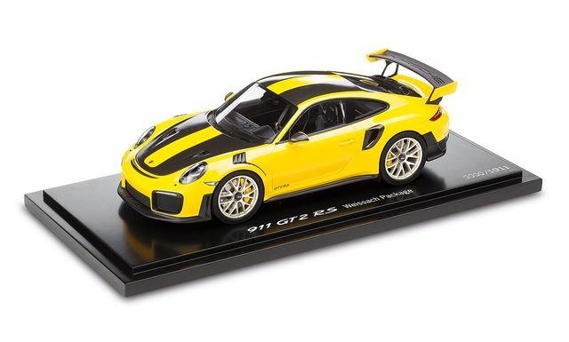 Model Car: 911 GT2 RS, Racing Yellow/Black 1:18 - Limited Edition - Porsche (WAP-021-152-0J)