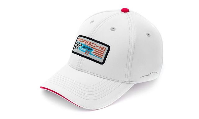 WHITE Rennsport Reunion VI Patch Hat - Porsche (REN-001-007-18)