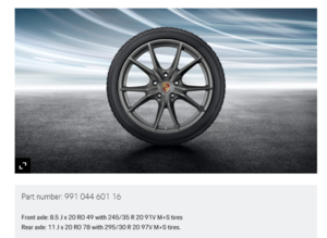 20-Inch Carrera S Winter Wheel-And-Tire Set - Porsche (991-044-601-16)
