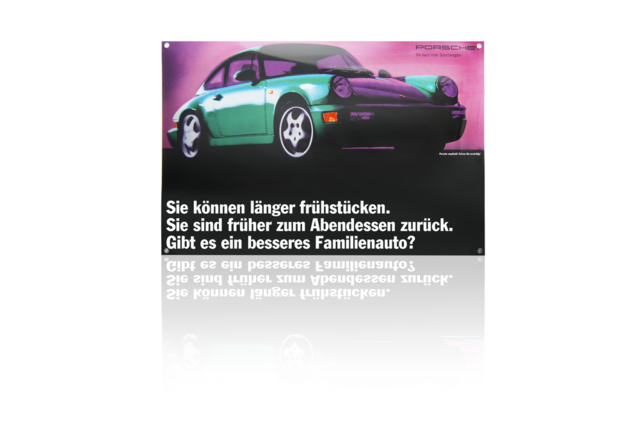 Porsche Enamel Sign - Porsche (PCG-000-964-20)