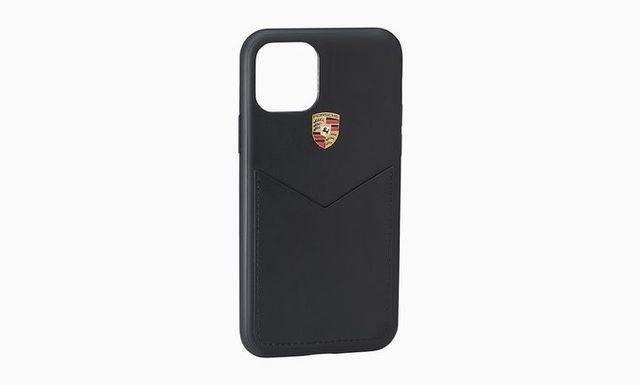 Snap On Case, iPhone 11, Leather Black - Porsche (WAP-030-003-0L-LTH)