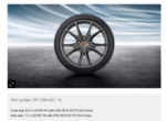 20-Inch Carrera S Winter Wheel-And-Tire Set - Porsche (991-044-601-16)
