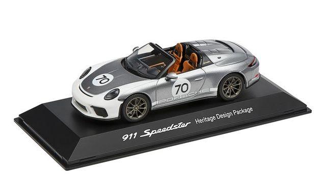 Model Car:  911 Speedster 991 Heritage Design Package 70 gray metal 2019, 1:43 - Porsche (WAP-020-194-0K)