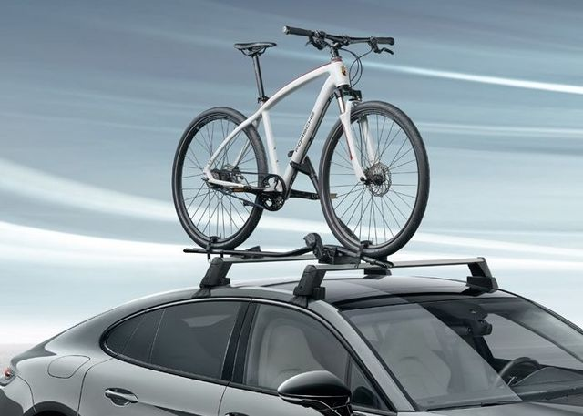 Racing Bike Carrier - Front Wheel Holder - Porsche (95B-044-800-38)