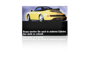Porsche Enamel Sign