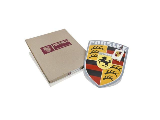 Porsche Classic Enamel Crest Sign from 1960s - Porsche (644-701-007-10)
