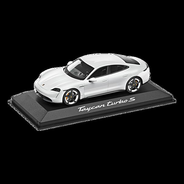 Model Car: Taycan Turbo S white 1:43 - Porsche (WAP-020-780-0L)