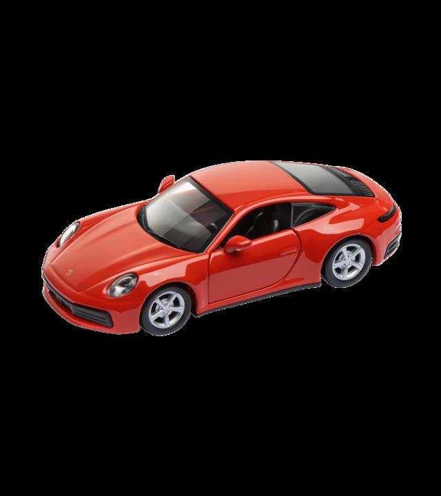 Pullback Toy Car: 911 Carrera 4S Lava Orange - Porsche (WAP-020-027-0K)