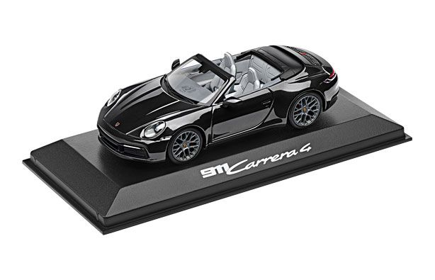 Model Car: 911 (992) Carrera 4 Cabriolet Black - Porsche (WAP-020-177-0K)