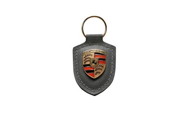 Porsche Crest Keyring - Grey - Porsche (WAP-050-097-0H)