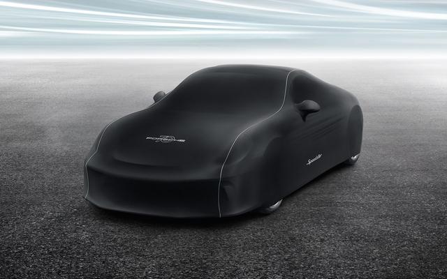 """Indoor Car Cover 911 Speedster in """"70 Years of Porsche"""" Design - Porsche (991-558-405-01)"""