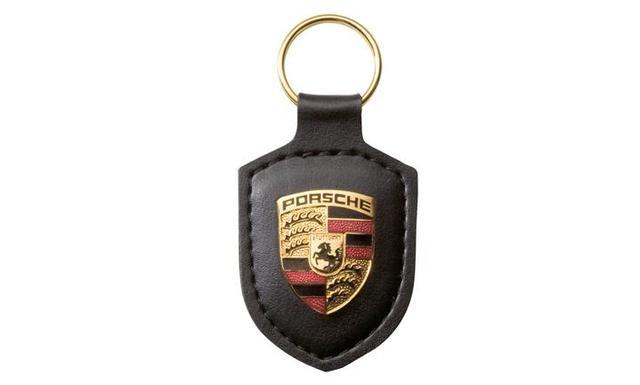 Porsche crest keyring, black - Porsche (WAP-050-090-0E)