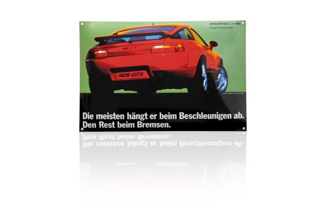928 GTS Enamel Plate - Porsche (PCG-000-928-10)
