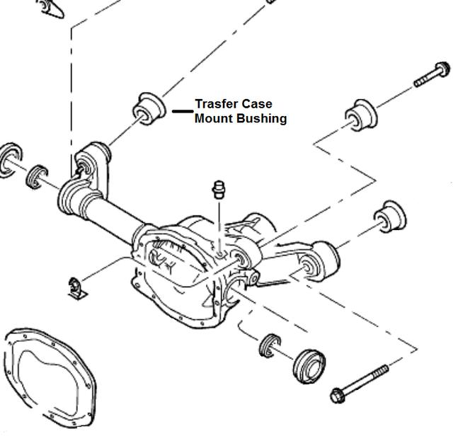 2004 Mercury Mountaineer Suspension: FRONT AXLE CASE For 2005 Mercury