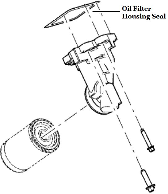 genuine ford oil filter housing seal 2l3z