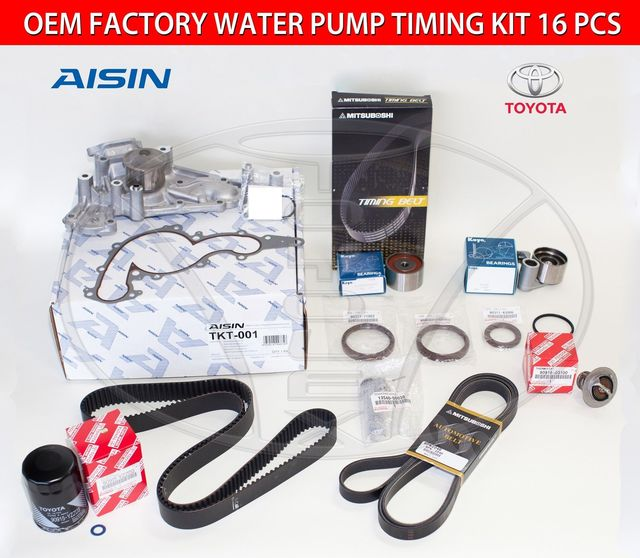 Genuine Factory Timing Belt Kit with OEM Aisin Water Pump for 4.3 & 4.7 Engine - Toyota (1610059276ais7)