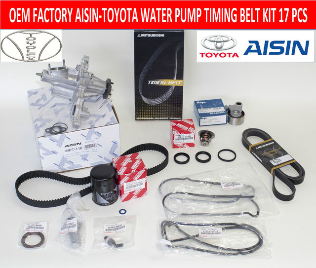 Lexus IS300 & GS300- Genuine Factory Timing Belt Kit with OEM Aisin Water Pump - Lexus (1610049876aisgs)