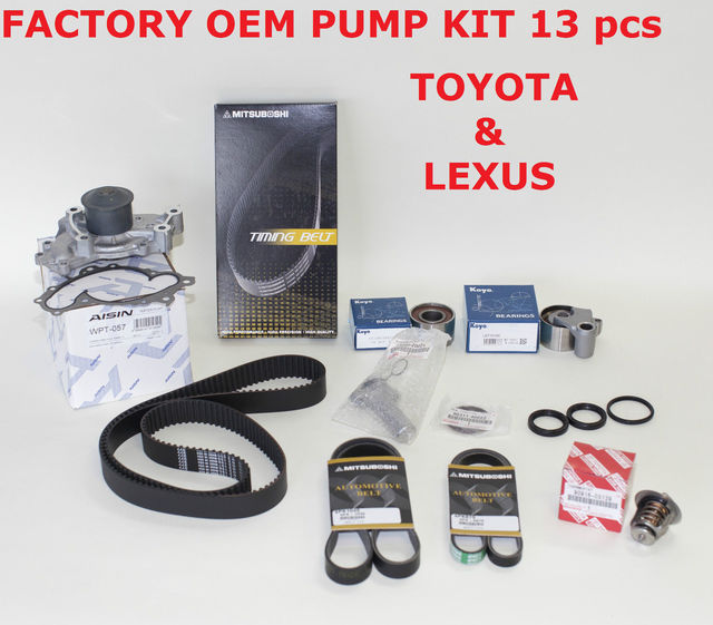 Genuine Factory Timing Belt Kit with OEM Aisin Water Pump for 1MZ-FE Engines - Toyota (1610029085oais)