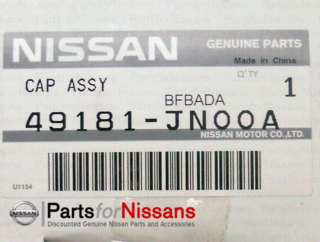 Nissan 49181-JN00A Cap Assembly Reservoir
