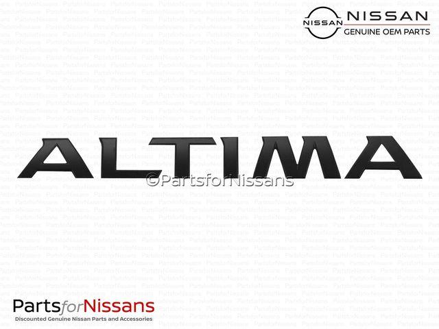 Altima Rear Emblem Midnight Edition - Nissan (84895-9HU5B)
