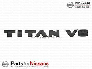 Titan V8 Side Emblem Midnight Edition - Nissan (80892-9FT0A)