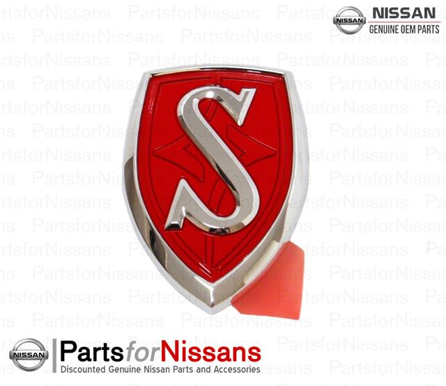 240SX Silvia JDM S Red Hood Emblem - Nissan (65892-80F05)