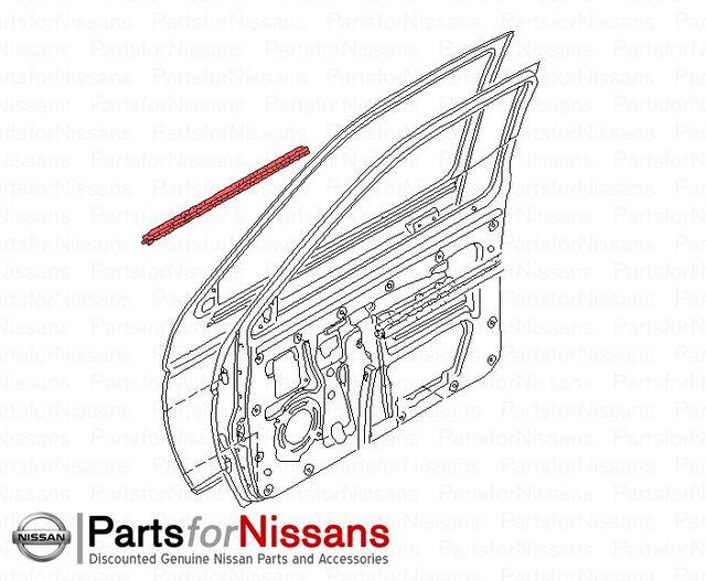 Details about  /Genuine Nissan Belt Weather-Strip 82820-CA000