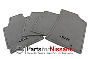 NEW OEM 2007-2008 NISSAN ALTIMA 4PC CARPET FLOOR MAT SET - FROST - LIGHT GREY - Nissan (999E2-UT000GY)