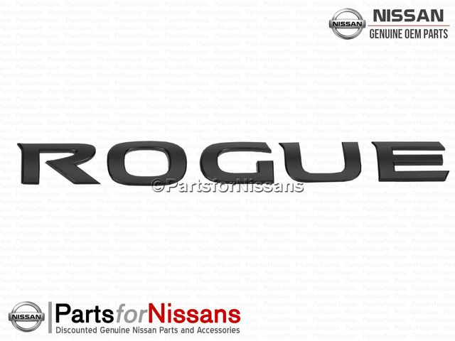 Rogue Rear Emblem Midnight Edition - Nissan (84895-9TG0A)