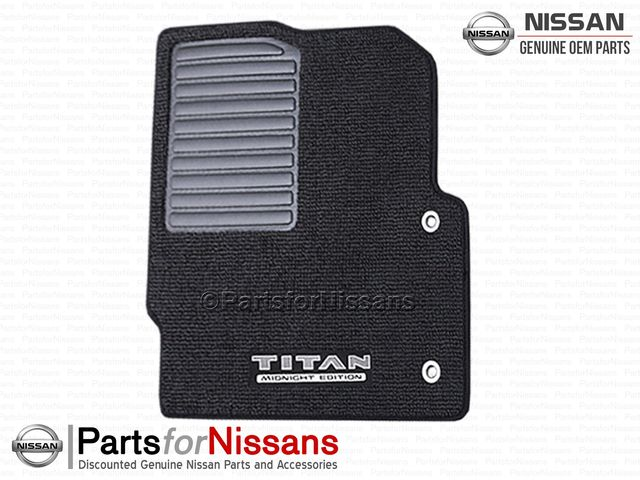 Titan Carpeted Floor Mats (4-Piece / Midnight Edition) - Nissan (999E2-W6000)